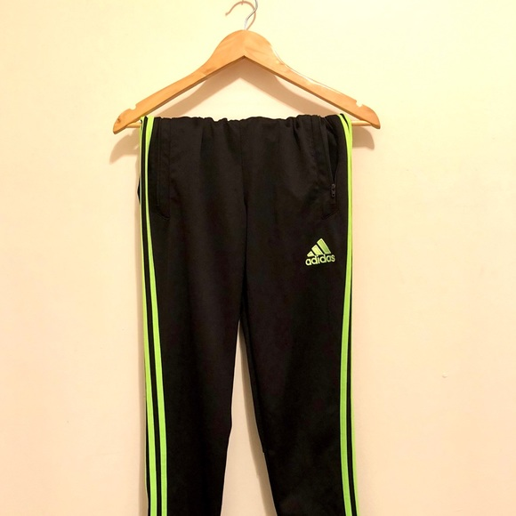 adidas pants green stripe